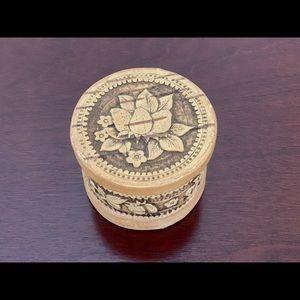 Handmade Birch Bark Jewelry Box